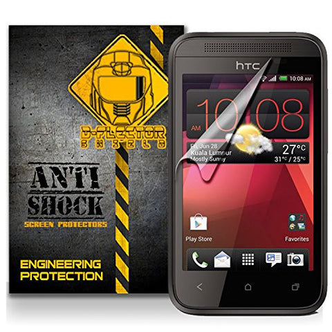 D-Flectorshield HTC DESIRE 200 Anti-Shock/military grade/ TPU /Premium Screen Protector / self healing / oleophobic material / EZ install / ultra high definition / scratch proof / bubble free install / precise laser cuts