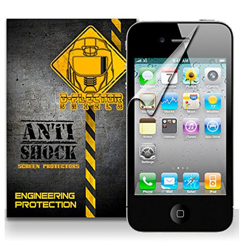 D-Flectorshield Apple iPhone 4 / 4S Anti-Shock/military grade/ TPU /Premium Screen Protector / self healing / oleophobic material / EZ install / ultra high definition / scratch proof / bubble free install / precise laser cuts