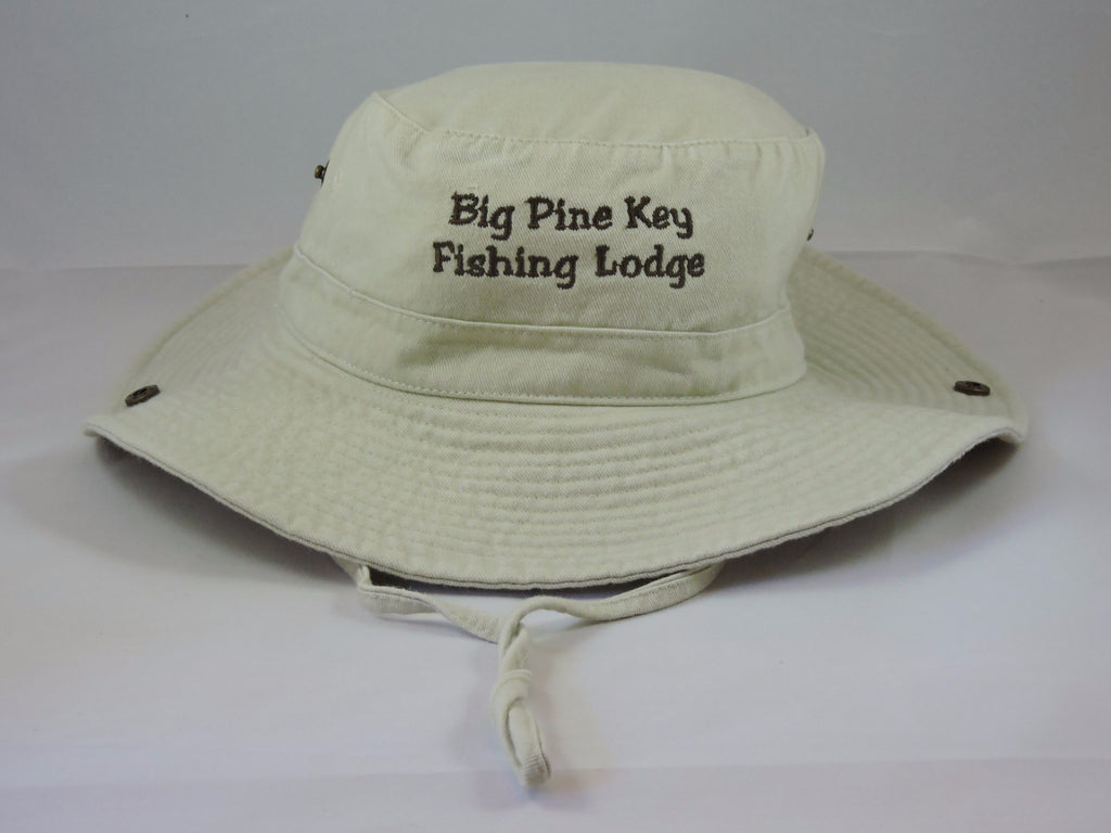Cotton bucket hat with BPKFL logo with adjustable chin strap, adult