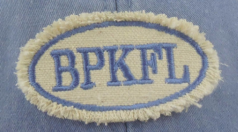 Cotton baseball cap with embroidered BPKFL patch