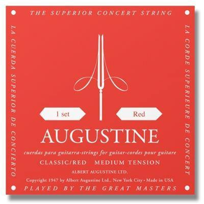 Buy Augustine Red Label Copper Wound Medium Tension Classical Guitar Strings at Guitar Crazy