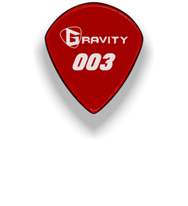 Buy Copy of Gravity 003 Jazz Size Guitar Pick Unpolished at Guitar Crazy