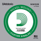 Buy D`Addario NW028 Nickel Wound Electric Guitar Single String at Guitar Crazy