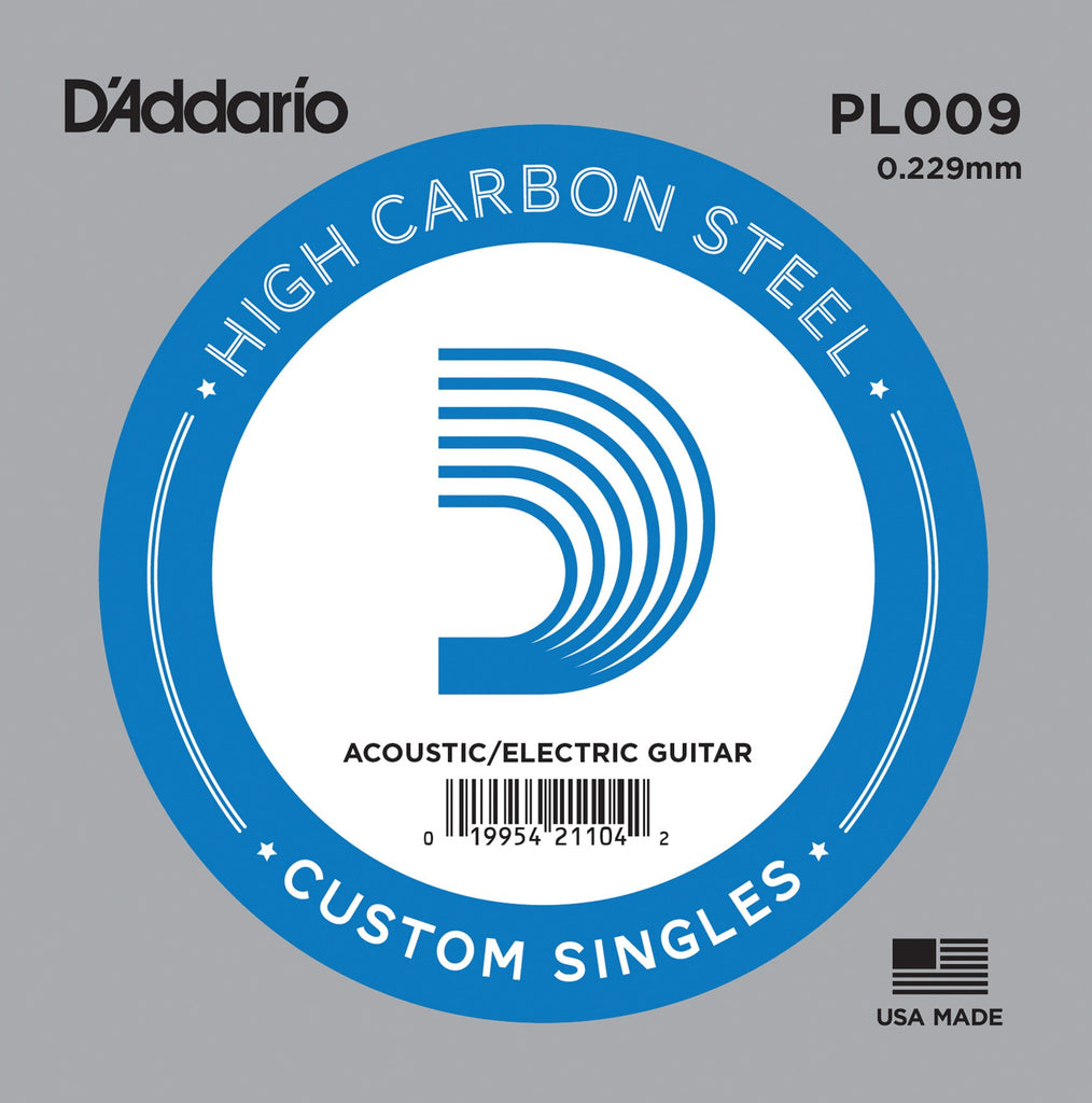 Buy D`Addario PL009 Plain Steel Electric Guitar Single String at Guitar Crazy