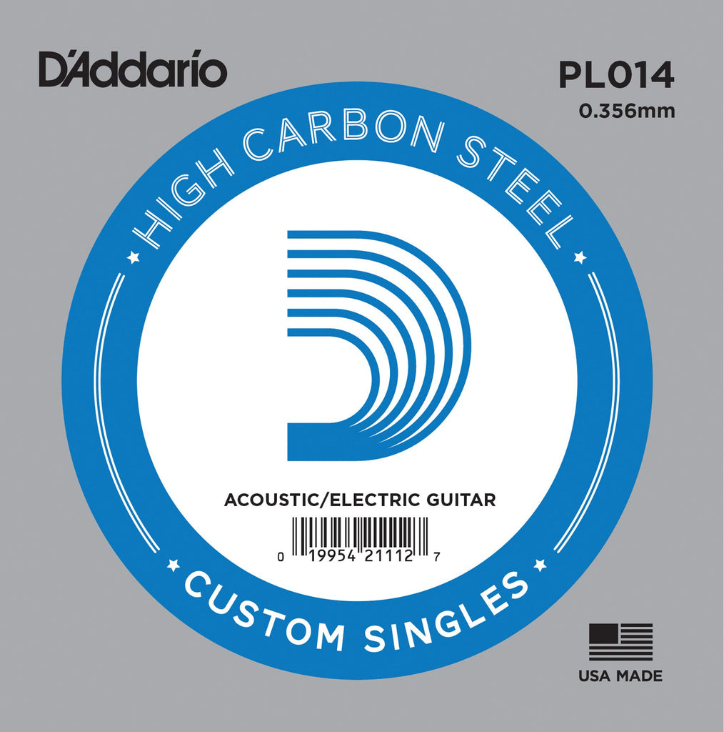 Buy D`Addario PL014 Plain Steel Electric Guitar Single String at Guitar Crazy