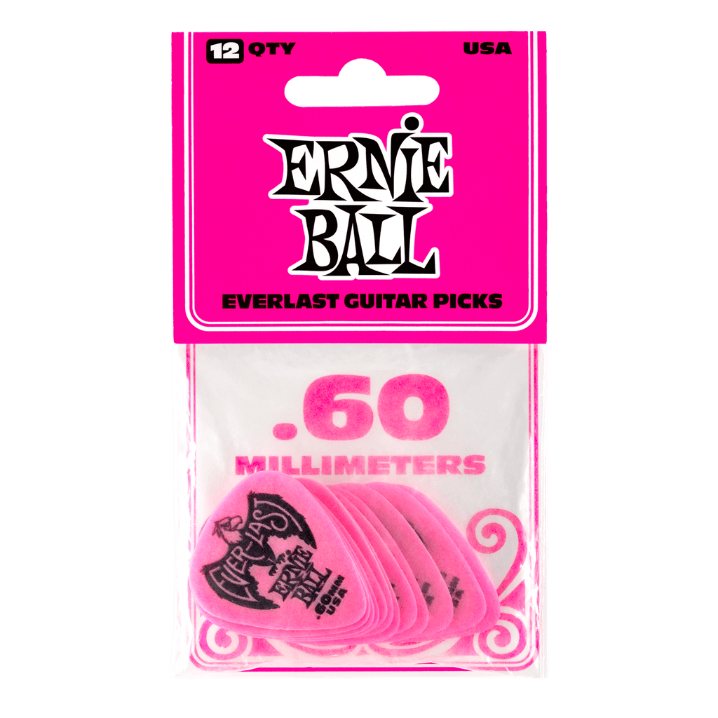 Buy Ernie Ball Everlast Picks 12 x 0.60mm at Guitar Crazy