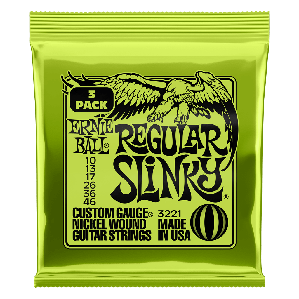 Buy Ernie Ball Regular Slinky 3 Set Pack Electric Guitar Strings at Guitar Crazy