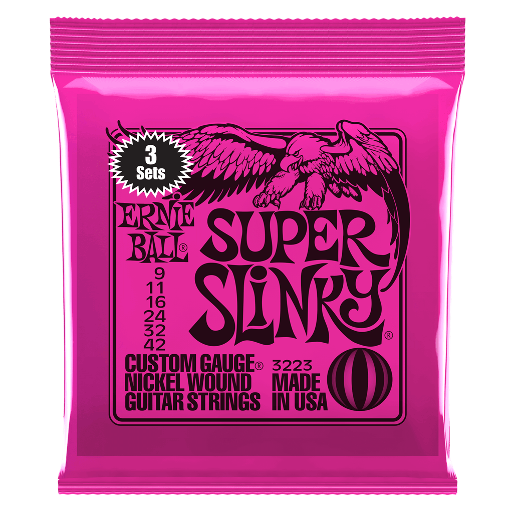 Buy Ernie Ball Super Slinky 3 Set Pack Electric Guitar Strings at Guitar Crazy