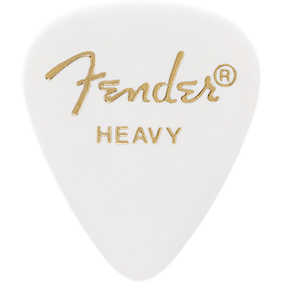 Buy Fender 351 Classic Heavy White Pick Pack (12) at Guitar Crazy