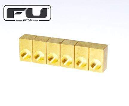 Buy FU Tone 6 Naval Brass String Lock Insert Blocks at Guitar Crazy