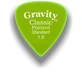GRAVITY PICKS Gravity Guitar Pick Classic Pointed Standard 1.5mm Polished