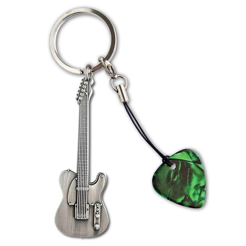 GROVER ALLMAN GIFTS Grover Allman Guitar Shaped Keyring #5 With Pick