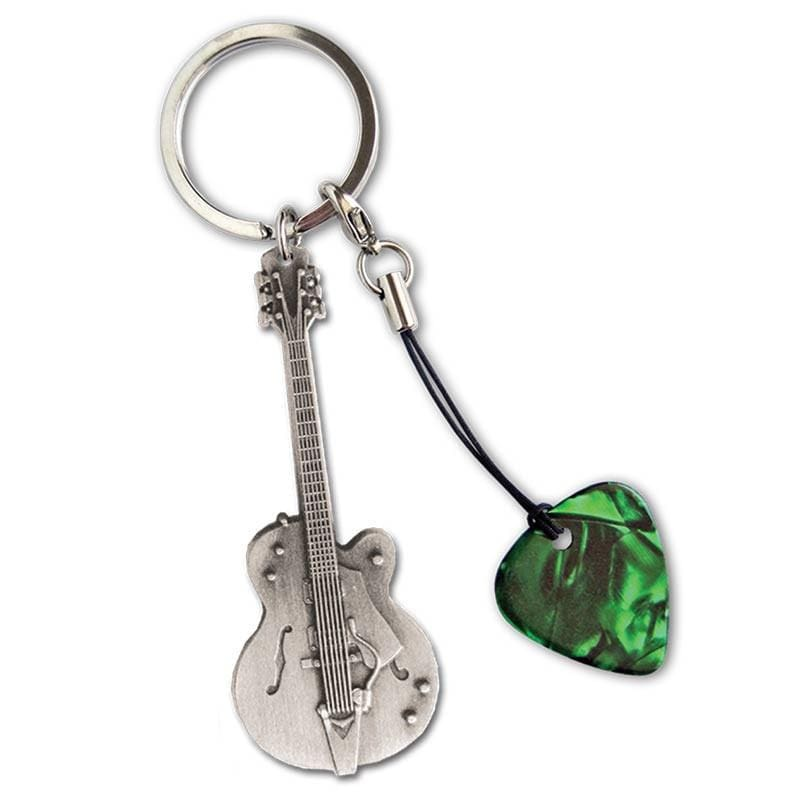 GROVER ALLMAN GIFTS Grover Allman Guitar Shaped Keyring #8 With Pick