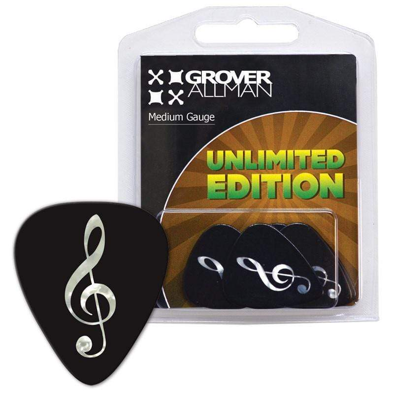GROVER ALLMAN PICKS Grover Allman Unlimited Edition - Pearl Treble Clef Multi Pack Guitar Picks