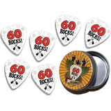 Guitar Crazy Picks 60 Rocks Guitar Picks with FREE Tin