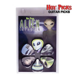 "Buy Hot Picks ""Alien Invasion"" Guitar Picks at Guitar Crazy"