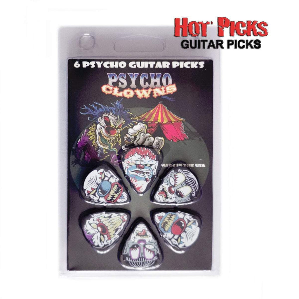 "Buy Hot Picks ""Psycho Clowns"" Guitar Picks at Guitar Crazy"