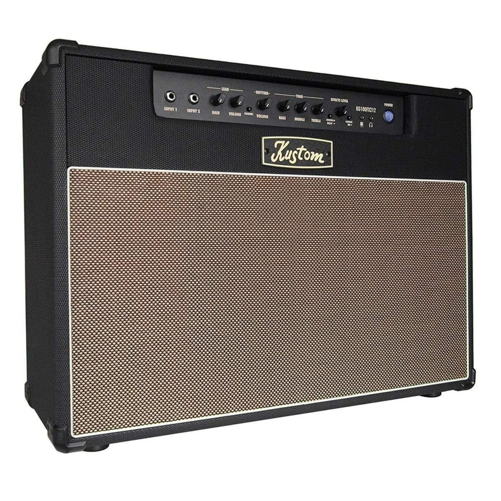 "Buy Kustom KG Series Guitar Amp 2 x 12"" with Digital Effects ~ 100W at Guitar Crazy"