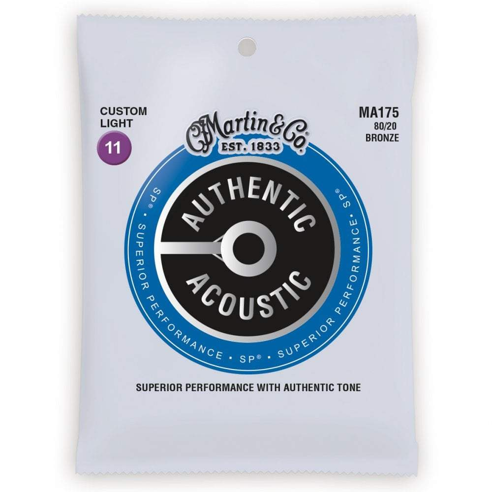 Buy Martin MA175 80/20 Bronze Acoustic Guitar Strings 11-52 at Guitar Crazy