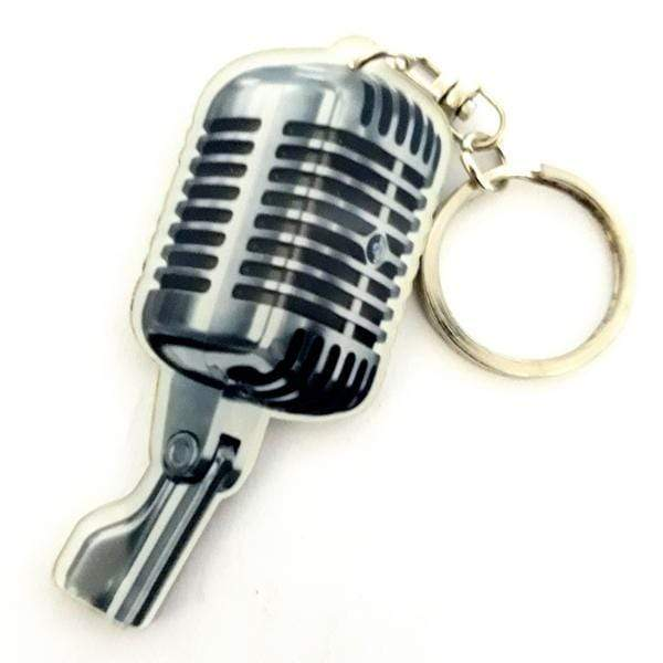 MUSIC LEGENDS GIFTS Microphone Acrylic Keyring