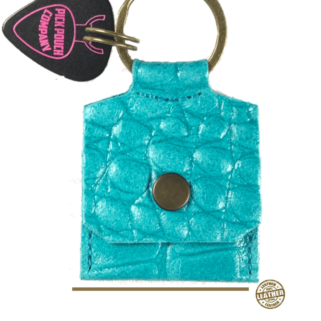 Buy Pick Pouch Company New York Croco Turquoise Pick Holder at Guitar Crazy