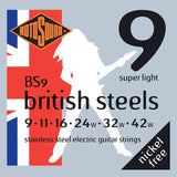 Buy Rotosound British Steels Stainless Steel Electric Guitar Strings 9-42 at Guitar Crazy