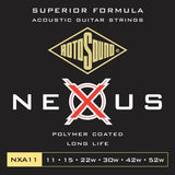 ROTOSOUND STRINGS Rotosound Nexus Coated 11 Gauge Acoustic Guitar Strings