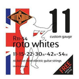 ROTOSOUND STRINGS Rotosound R11-54 Roto Whites Electric Guitar Strings 11-54