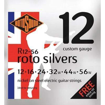 ROTOSOUND STRINGS Rotosound R12-56 Roto Silvers Electric Guitar Strings 12-56