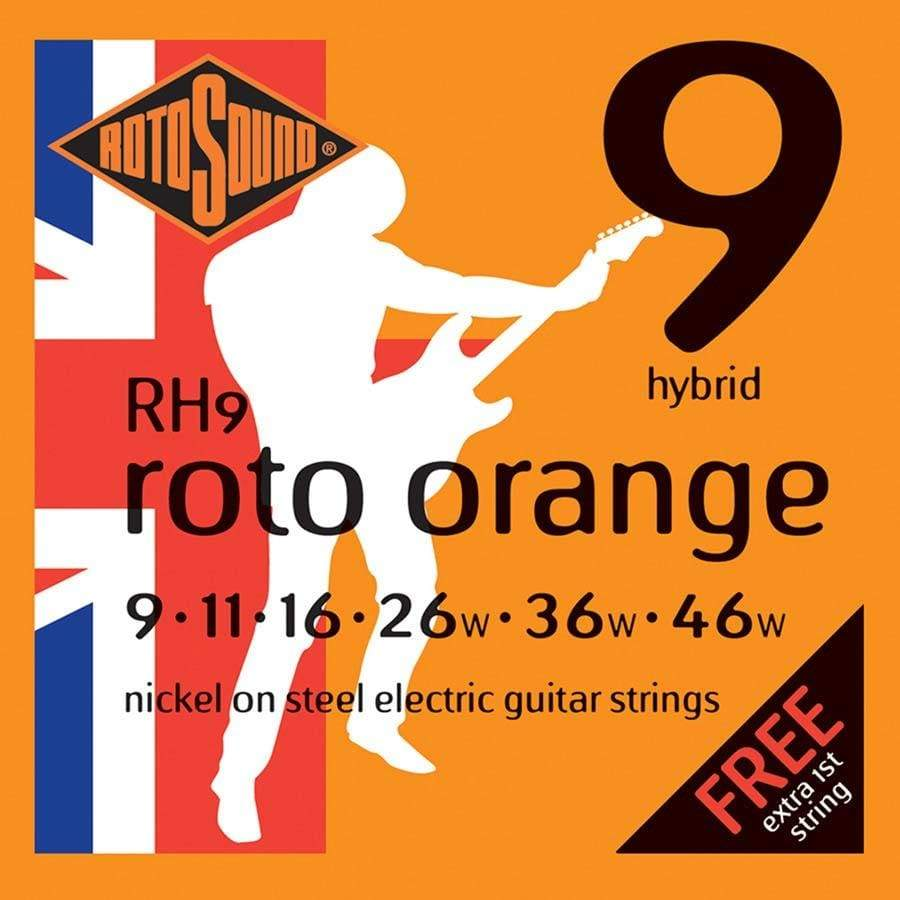 Rotosound STRINGS Rotosound RH9 Nickel Hybrid 9 -46 Gauge Electric Guitar Strings