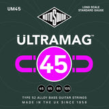 Rotosound STRINGS Rotosound Ultra Mag UM45 45 - 105 Electric Basss Guitar Strings