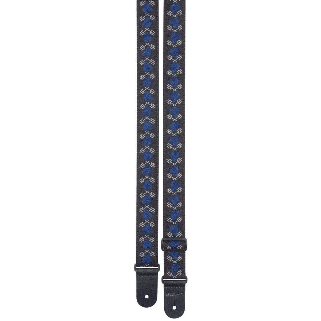 STAGG STRAPS Stagg - Skull Trident Blue Guitar Strap