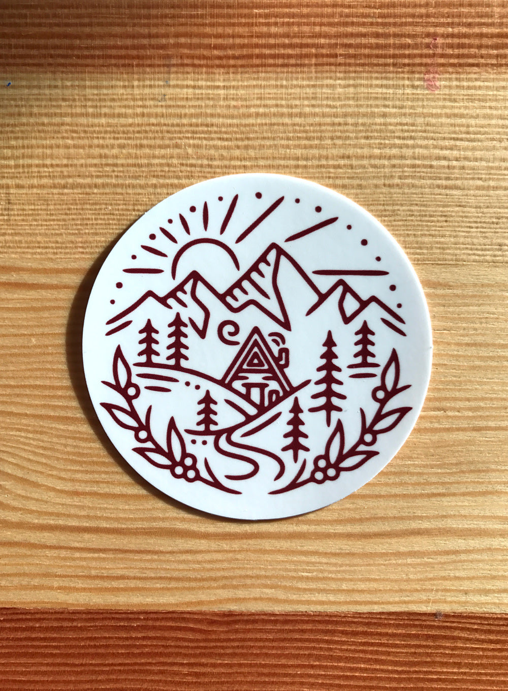 A-Frame Cabin Sticker