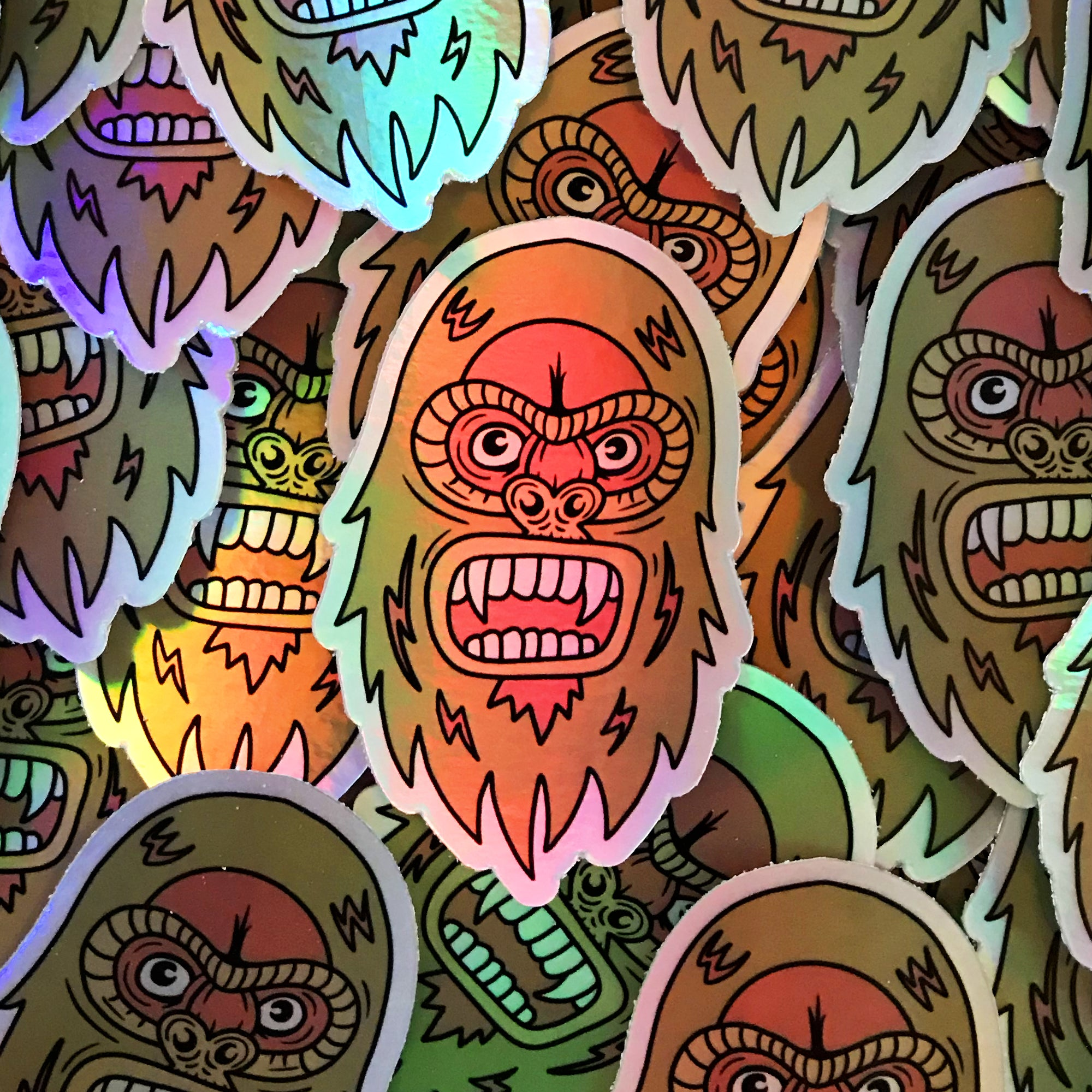 Holographic Sasquatch Sticker