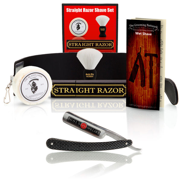 Shave Ready - Gold Dollar Straight Razor With Premium Shave Kit