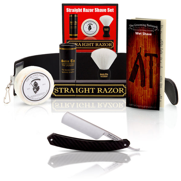 "Straight American 6/8"" Round Tip with Luxury Shave Set"