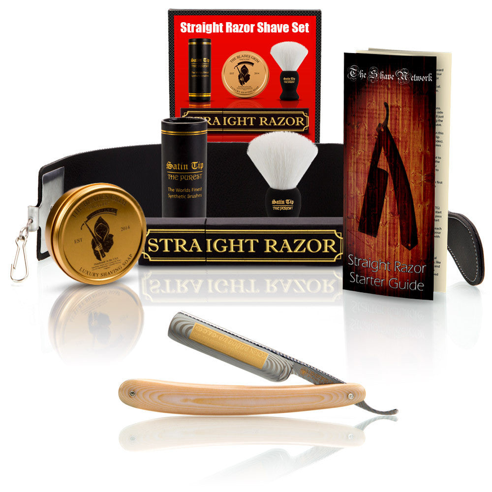 "Dovo Ivory Micarta 5/8"" Straight Razor with Luxury Shave Set"
