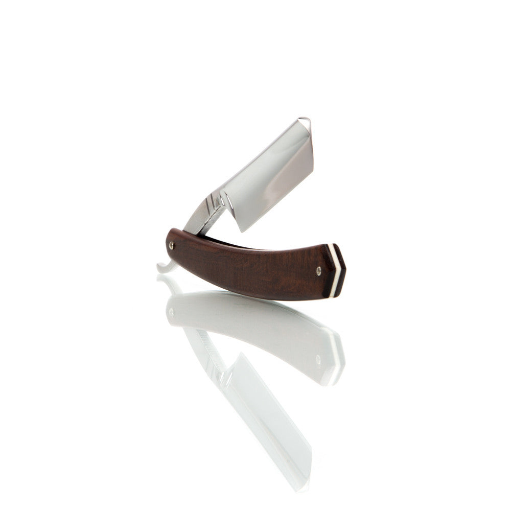 "Thiers-Issard Snakewood 6/8"" Round Point with Luxury Shave Set"