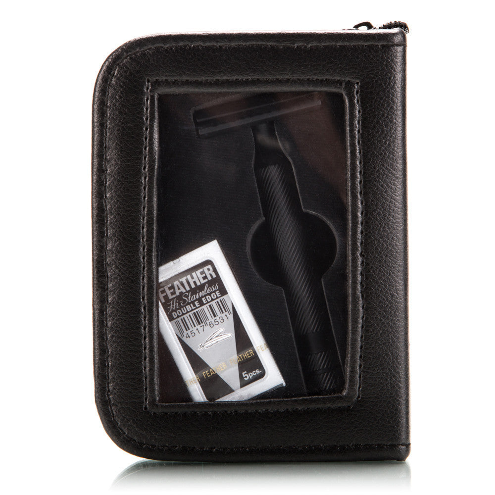 BOG 'SECDEF' Safety Razor With Leather Carry Case