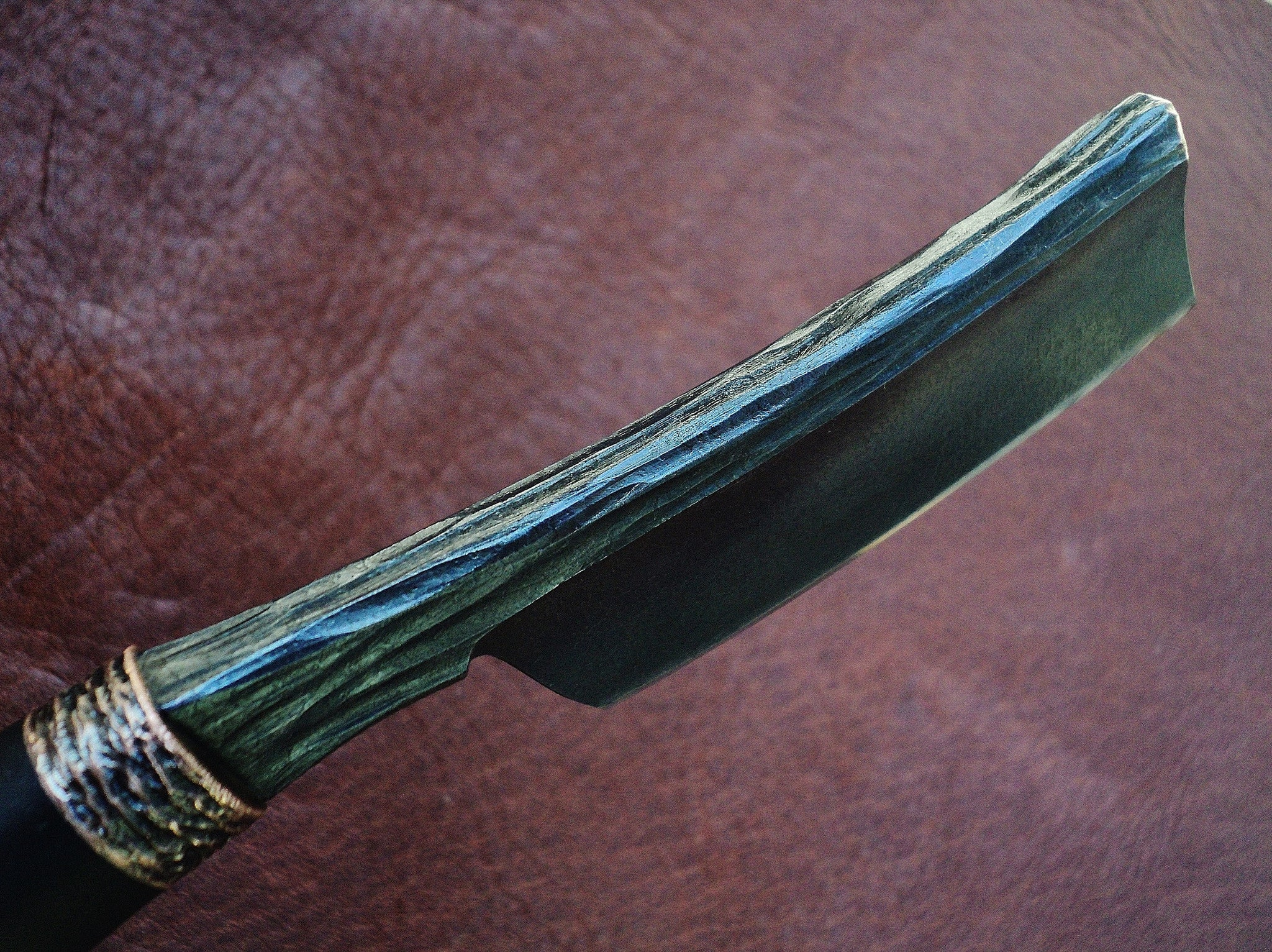 Dylan Farnham Custom Kamisori Razor - With Ebony Handle