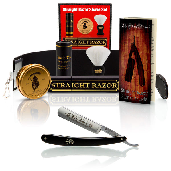 "King Cutter 5/8"" Straight Razor with Shave Set"