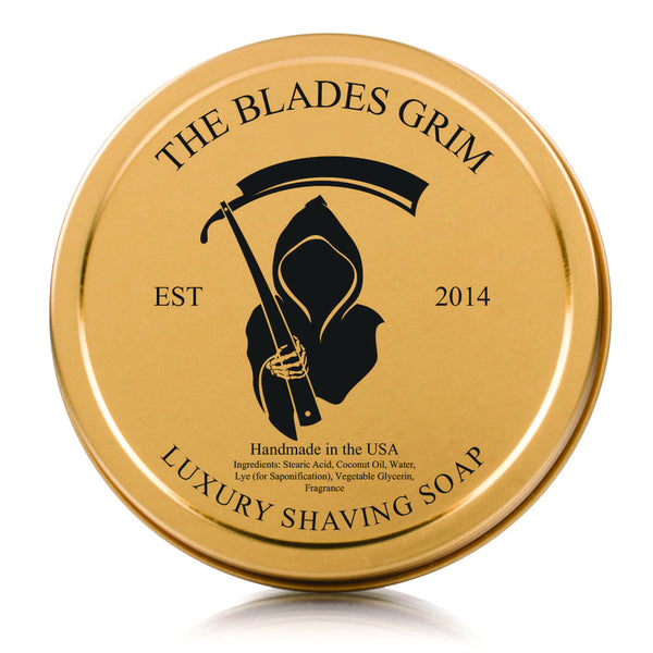Grim Blades Gold Shave Soap Scuttle With Screw Top Lid