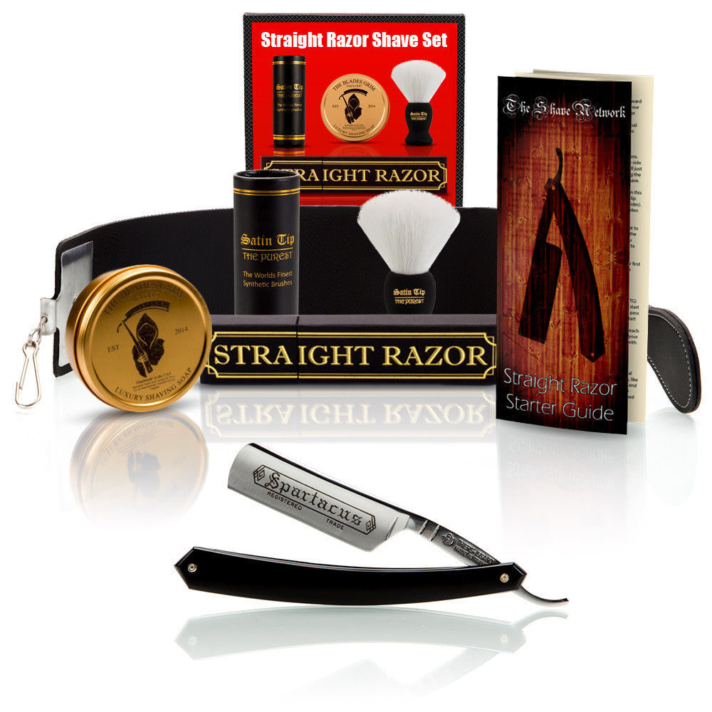 "Thiers-Issard Spartacus 6/8"" Round Point with Luxury Shave Set"