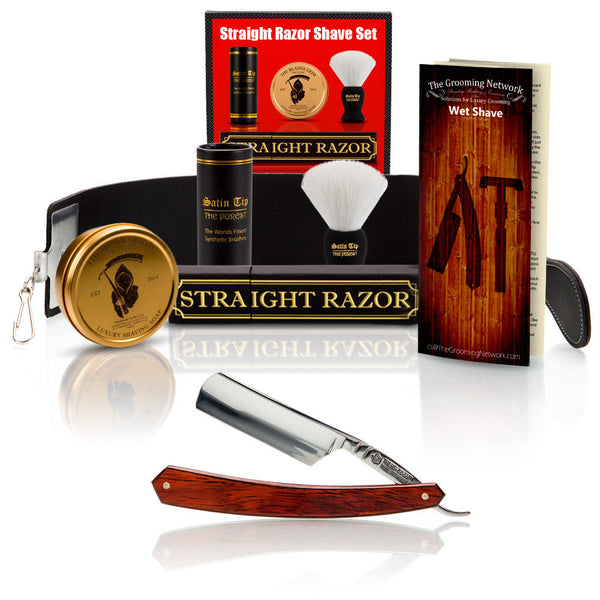"Thiers-Issard Red Stamina 6/8"" with Luxury Shave Set"