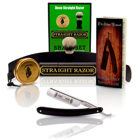 DOVO 6/8 Blades Grim Edition Razor With Premium Shave Set