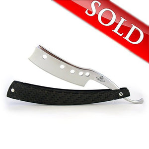 ALEX JACQUES CUSTOM BLACK CARBON FIBER STRAIGHT RAZOR