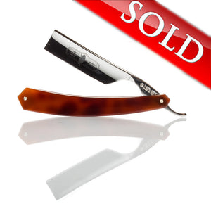 "Thiers Issard The Blades Grim 7/8"" Straight Razor - Faux Tortoise Scales"