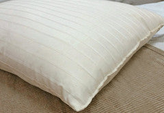Certified Organic Wool Pillow w/Luxury Striped Outer