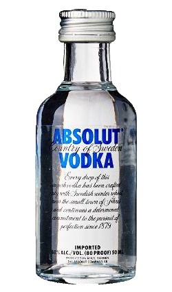 Absolut Blue Miniature 50ml