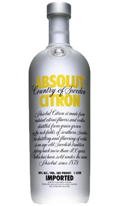 Absolut Vodka Citron 1000ml